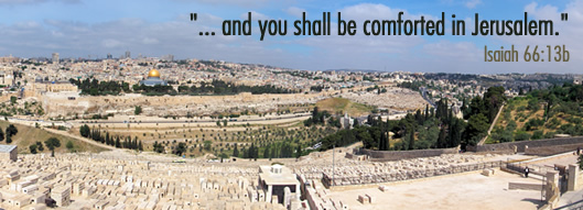 and you shall be comforted in Jerusalem - Isaiah 66:13